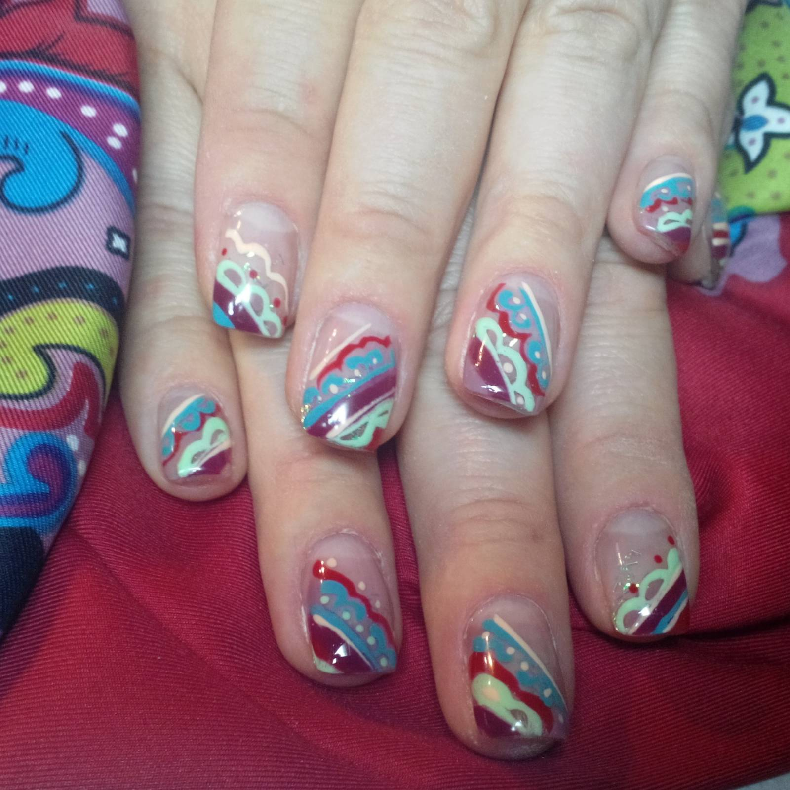 Маникюр художественная роспись ногте